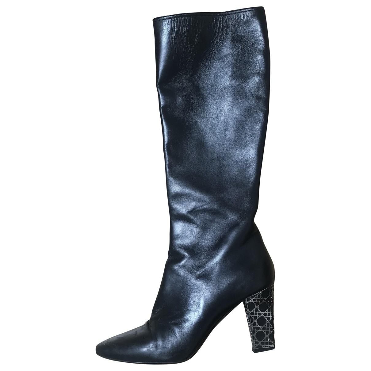 Dior \N Black Leather Boots for Women 39.5 EU