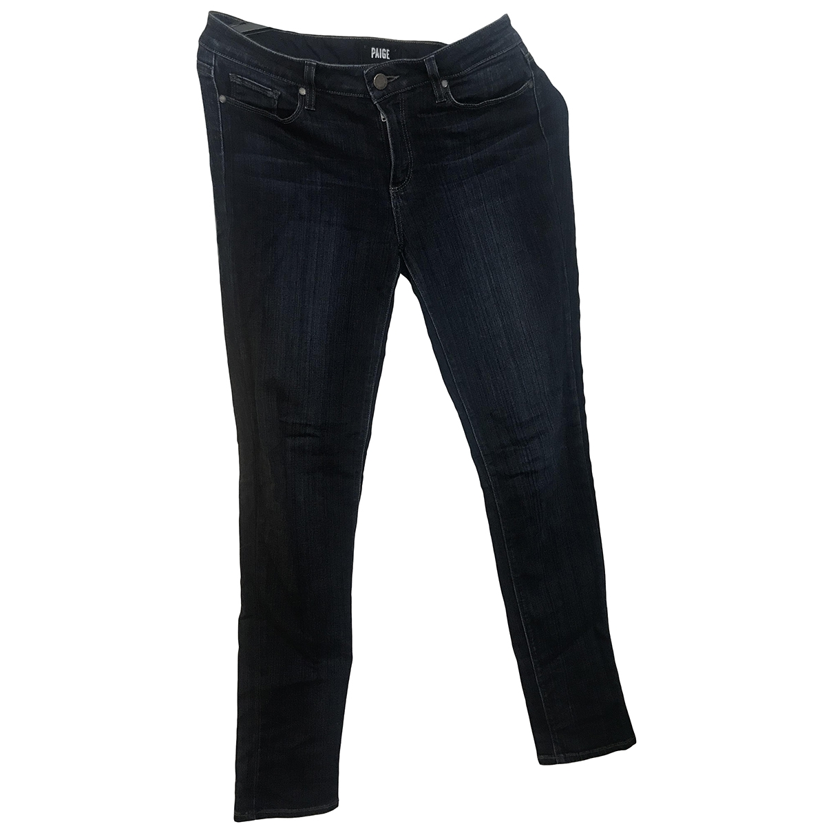 Paige Jeans \N Blue Cotton - elasthane Jeans for Women 30 US