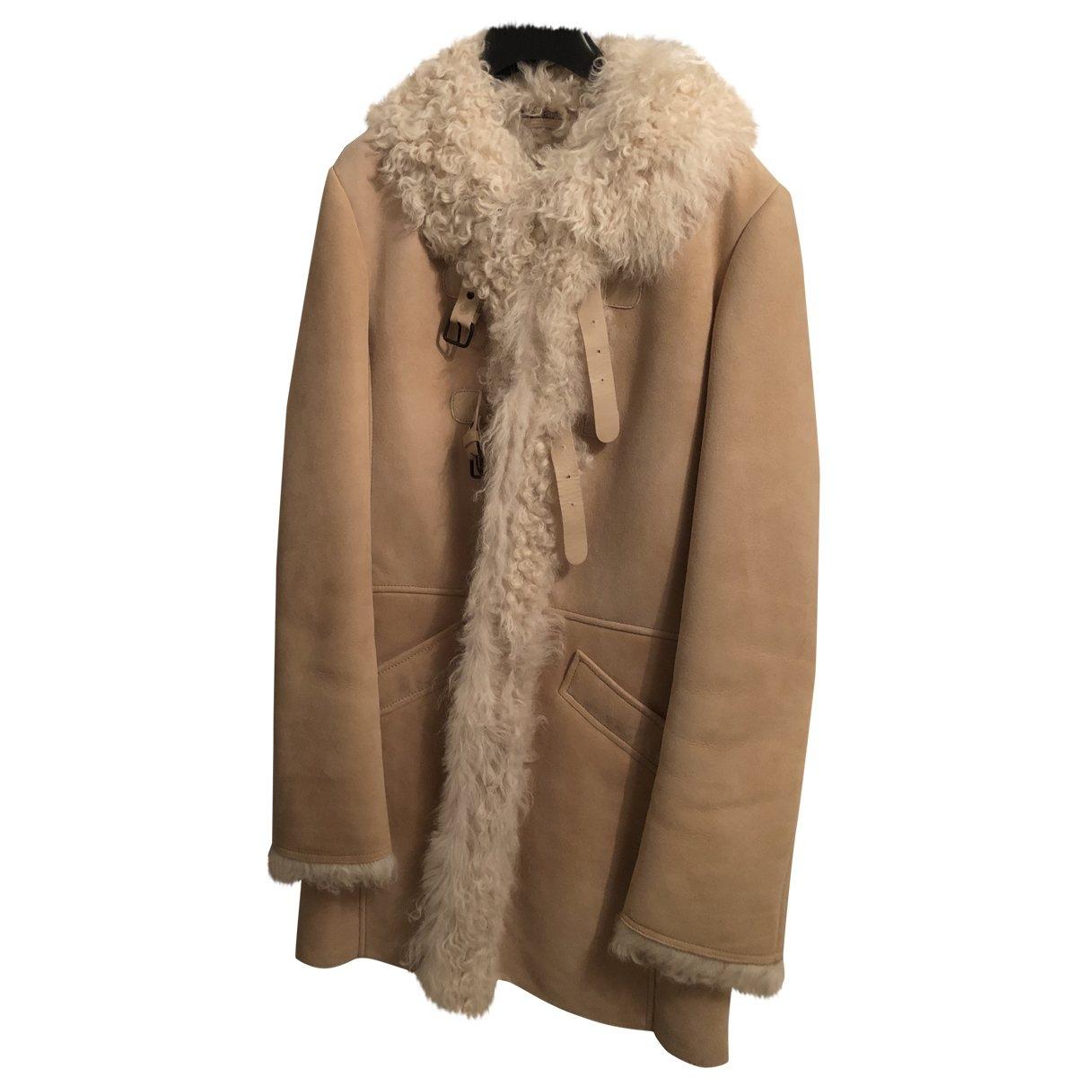 Comptoir Des Cotonniers \N Beige Leather coat for Women XL International