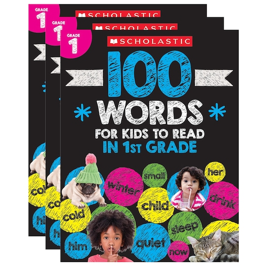 Scholastic® 100 Words For Kids To Read In 1St Grade, 3Ct. | Michaels®