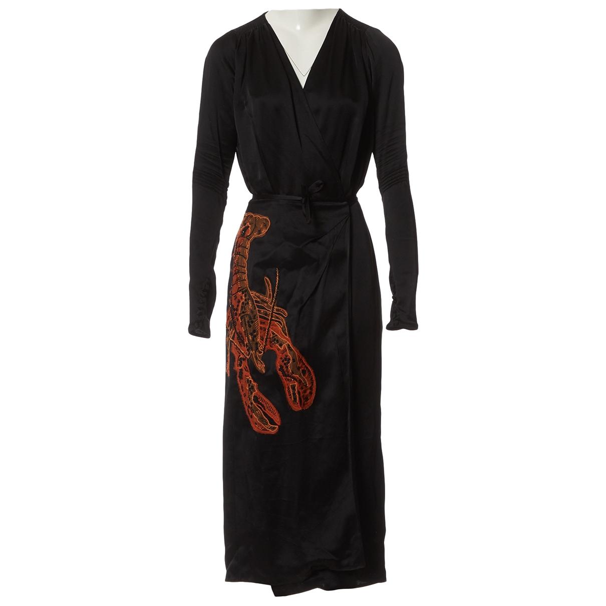 Attico \N Kleid in  Schwarz Viskose