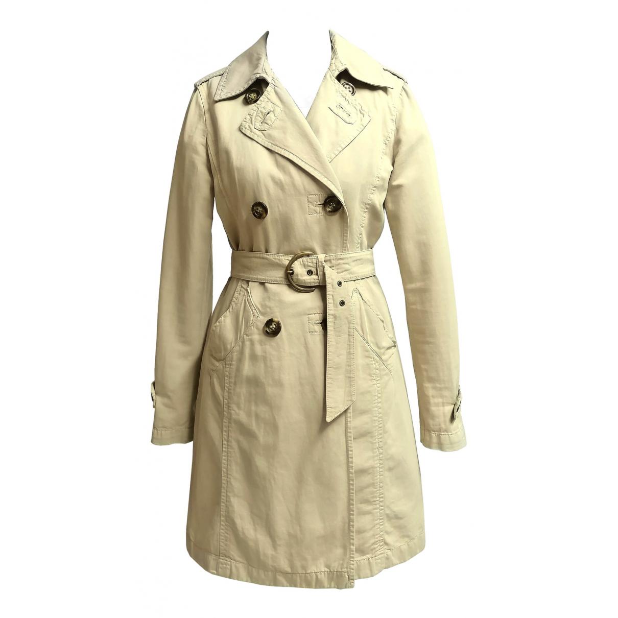 Marella N Beige Cotton coat for Women S International