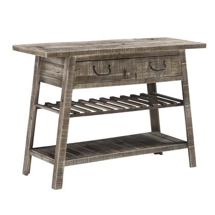 BM215062 1 Drawer and 2 Shelves Reclaimed Wood Console Table with Angled Legs