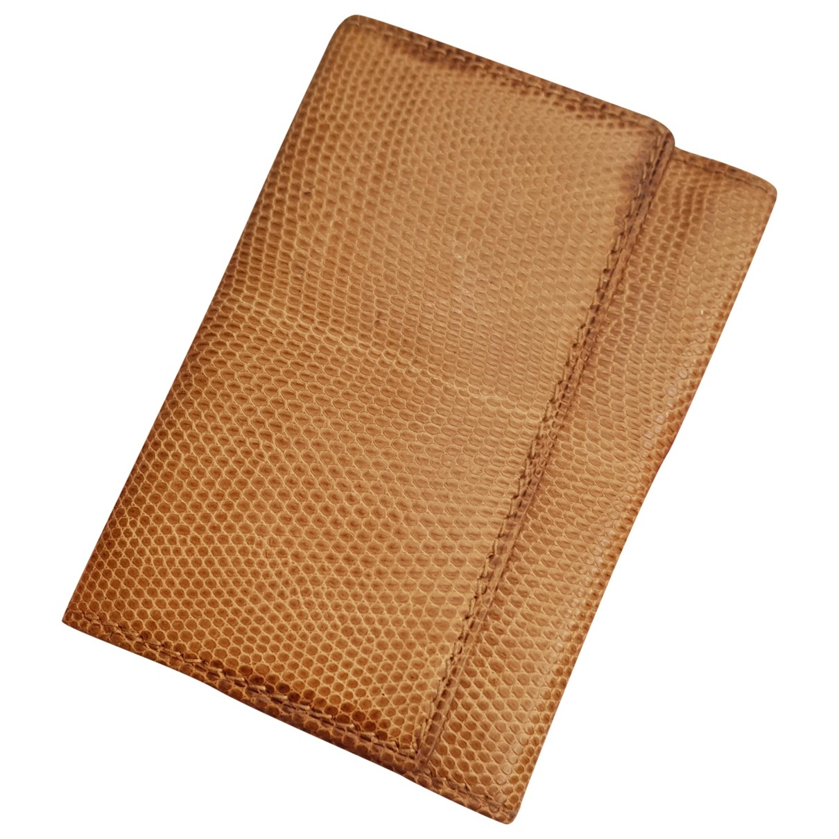 Gucci \N Camel Lizard Purses, wallet & cases for Women \N