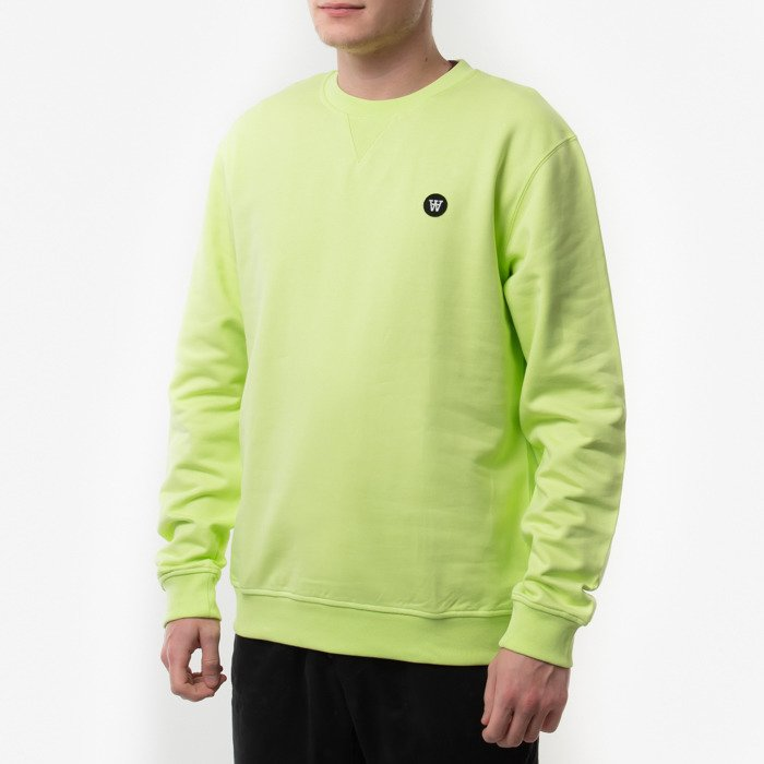 Wood Wood Double A Sweatshirt 10945601-2424 BRIGHT GREEN