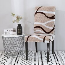 Line Print Stretchy Chair Cover
