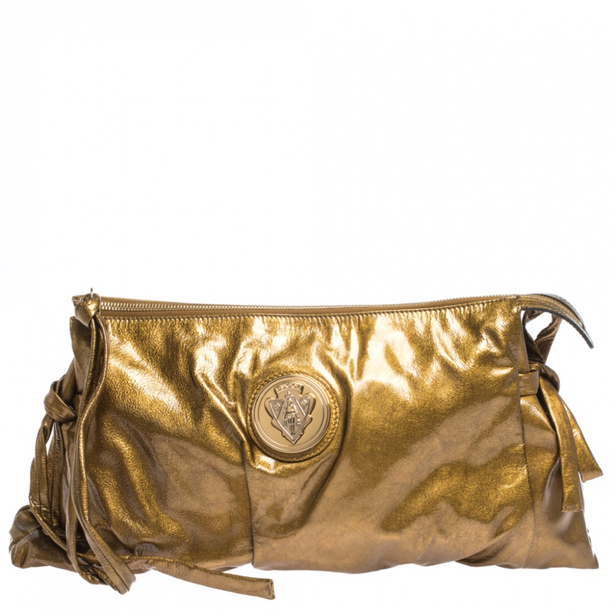Gucci Hysteria Gold Patent leather Clutch bag for Women N