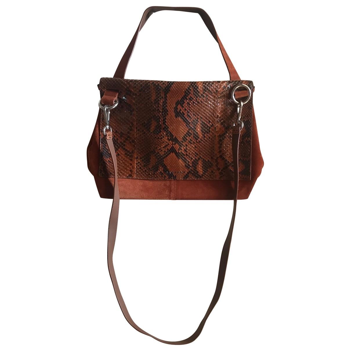 Orciani \N Orange Suede handbag for Women \N