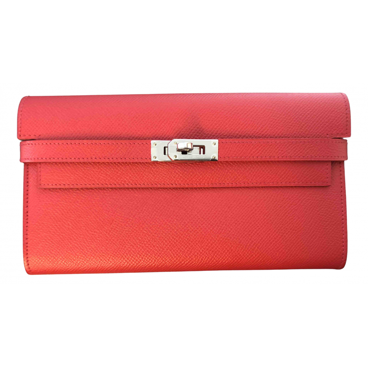 Hermès Kelly Red Leather wallet for Women N