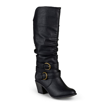 Journee Collection Womens Late Wide Calf Riding Boots, 11 Medium, Black