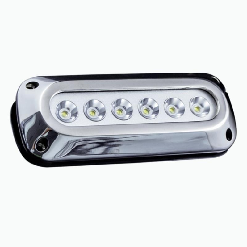 Race Sport Lighting MS-6E01ML-6X3W White 6-LED 6x3W Surface Mount Marine Light