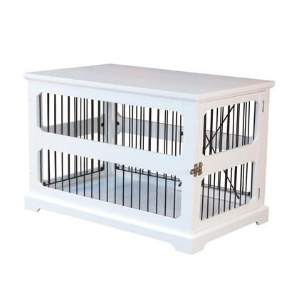 PTH0641720110 Slide Aside Crate And End Table  White  Medium with Stainless Steel hardware and Foldable for easy