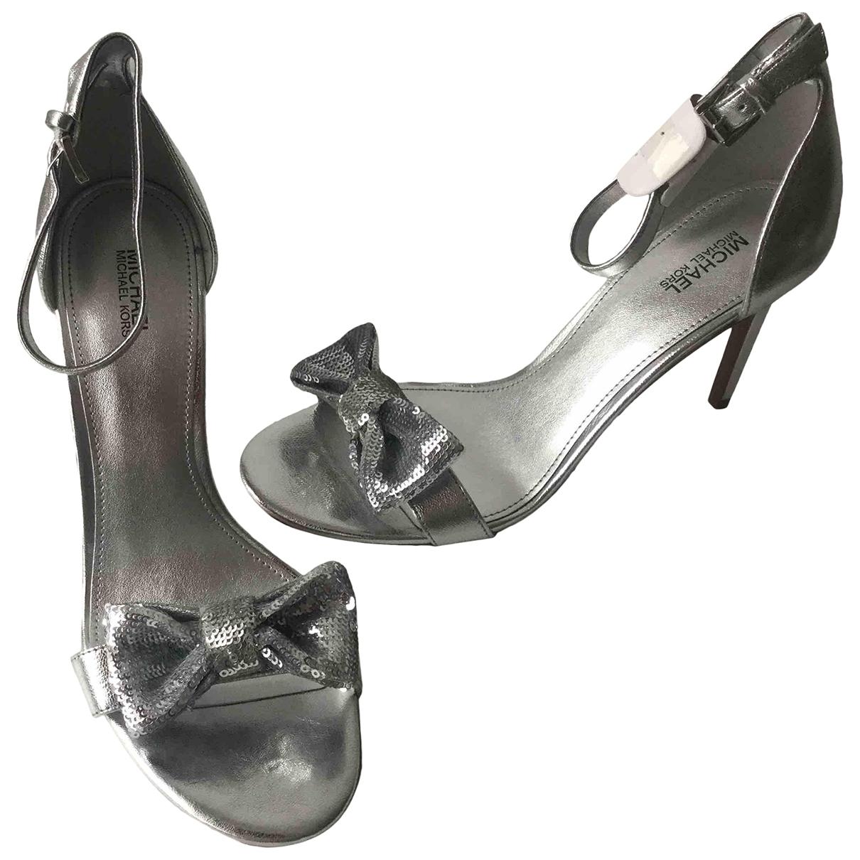 Michael Kors - Escarpins   pour femme en cuir - argente