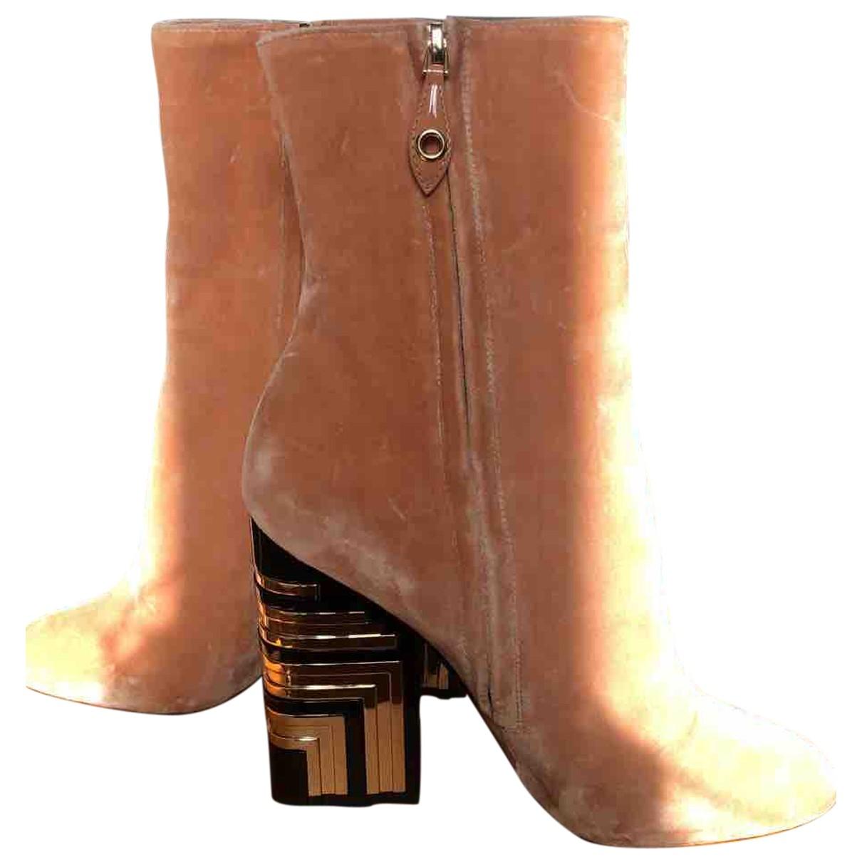 Louis Vuitton Monumenta Brown Suede Ankle boots for Women 37 EU