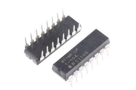Bourns 8-isolated  film resistor,100K,0.25W,2% (25)