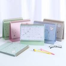 1 Stueck Zufaelliges monatliches Planbuch in Schreibtischkalenderform