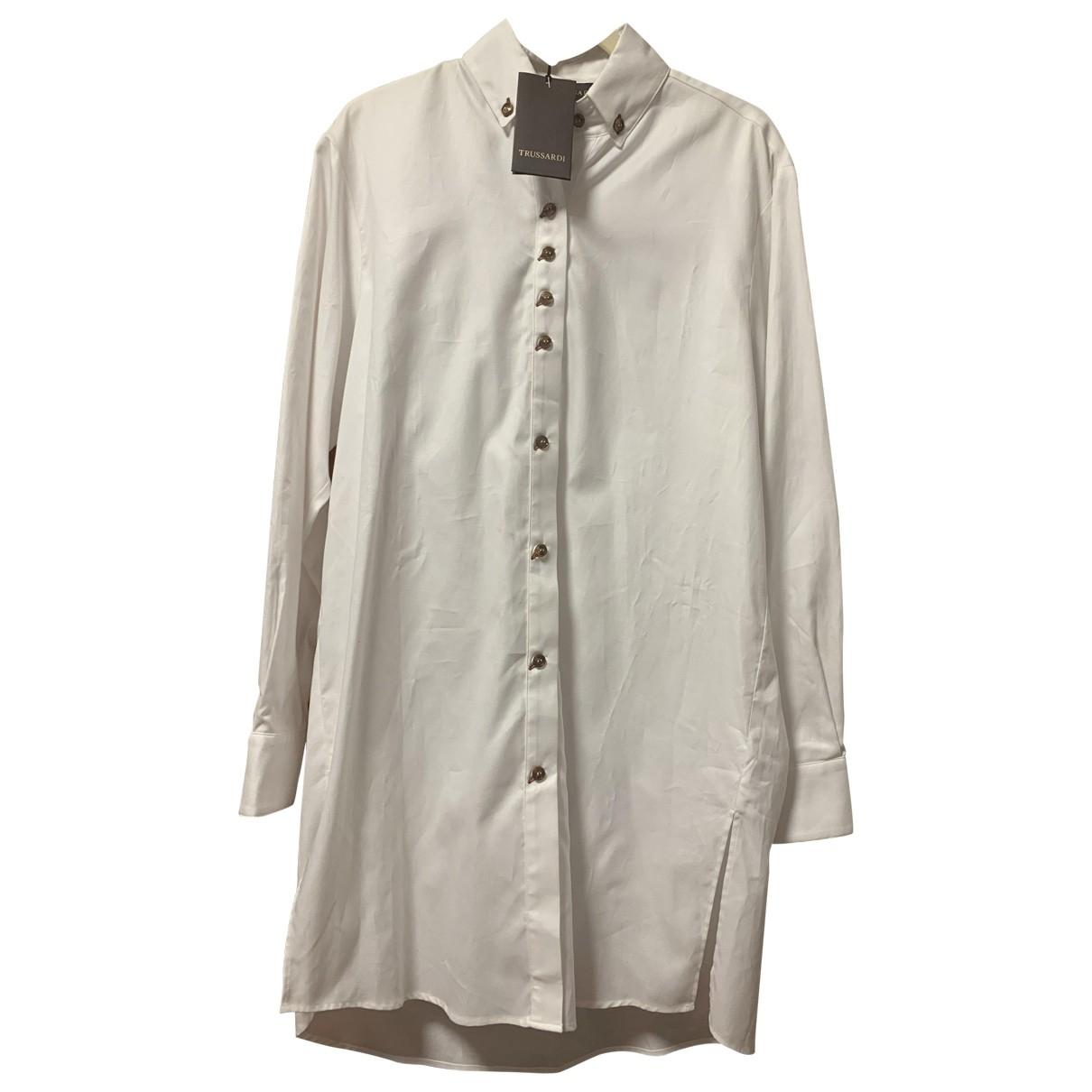 Trussardi - Top   pour femme en coton - blanc