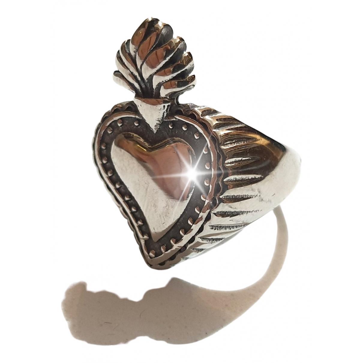 - Bague Motifs Coeurs pour femme en acier - argente