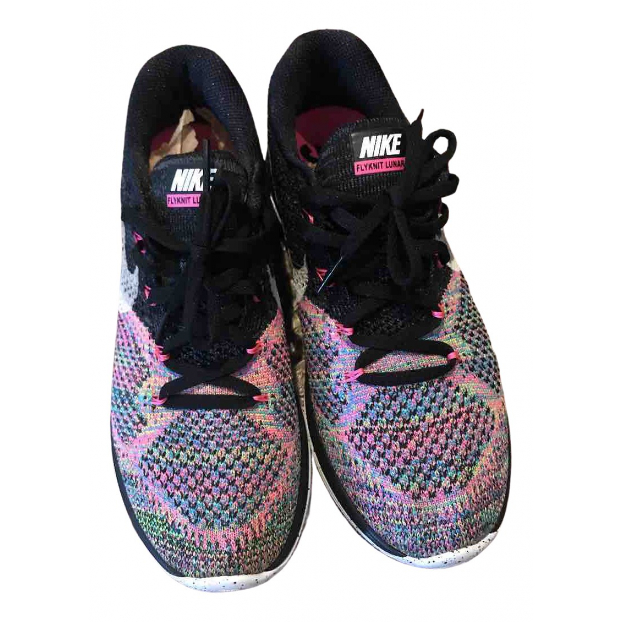 Nike Flyknit Racer Multicolour Cloth Trainers for Women 9 US