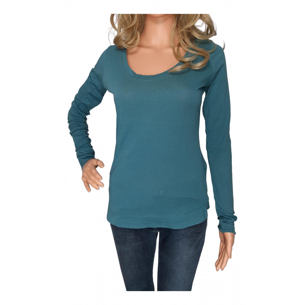 Comptoir Des Cotonniers N Blue Cotton  top for Women 40 FR