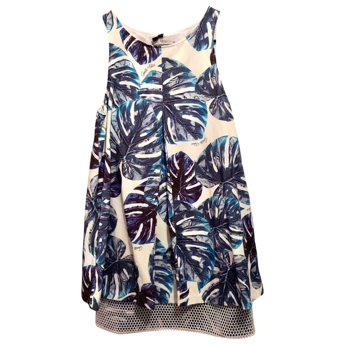 Gaelle Paris \N Kleid in  Blau Baumwolle