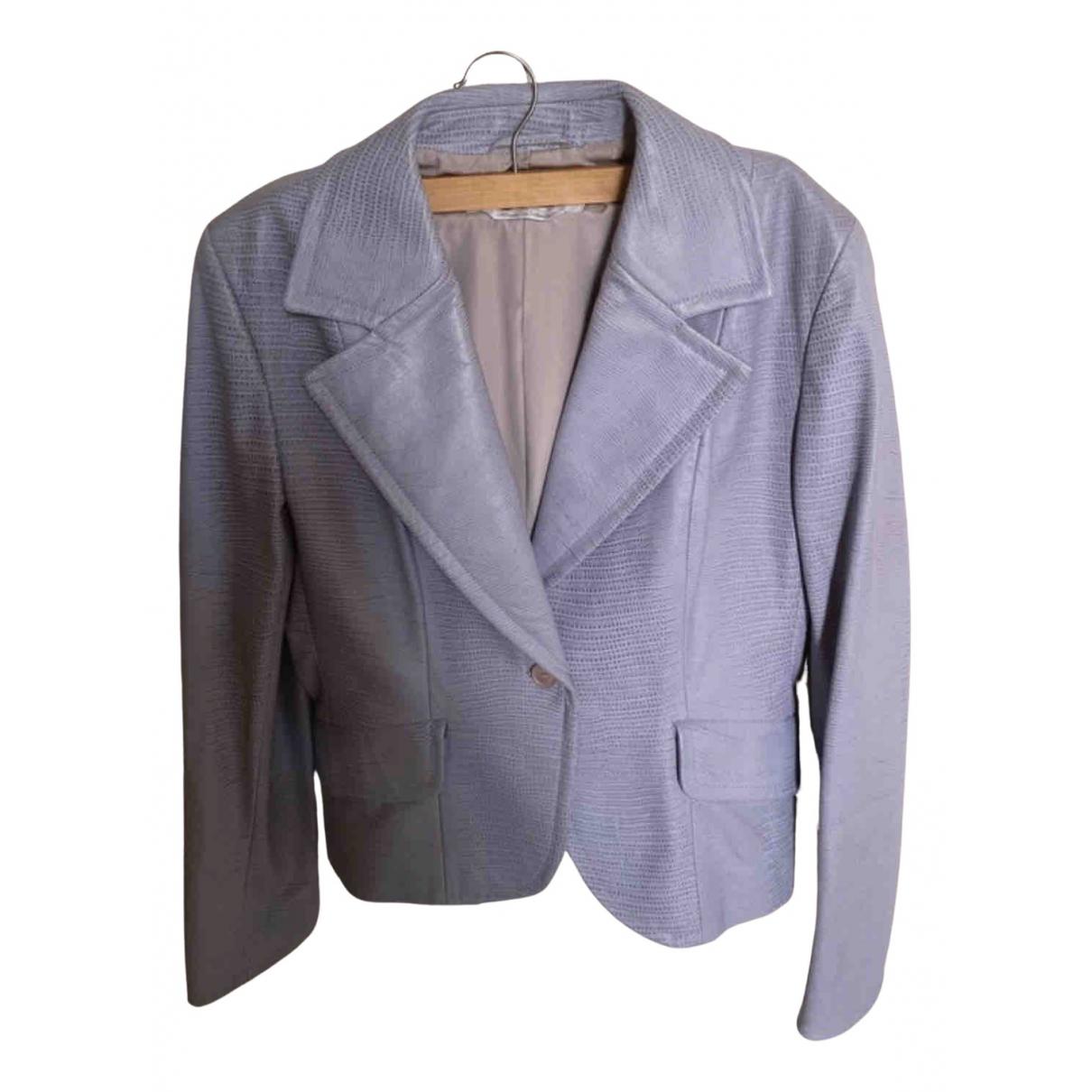 Max Mara - Veste   pour femme en cuir - violet