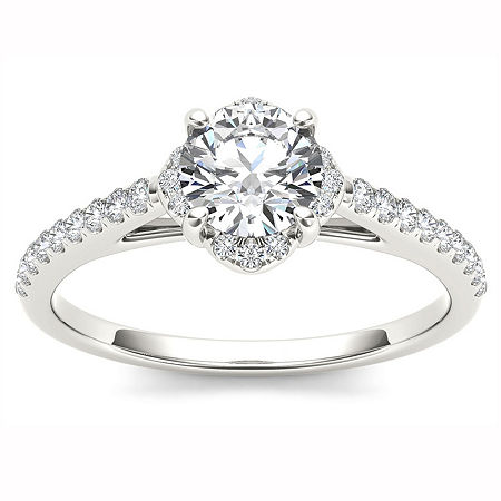 Womens 1 CT. T.W. Round White Diamond 14K Gold Engagement Ring, 6 1/2 , No Color Family