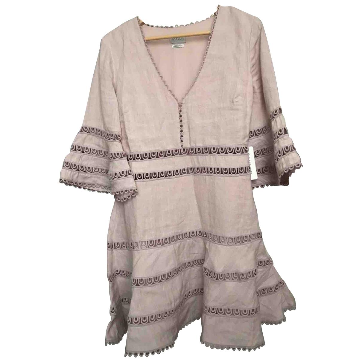 Non Signe / Unsigned \N Kleid in  Lila Leinen