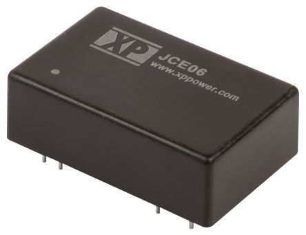 XP Power JCE 6W Isolated DC-DC Converter Through Hole, Voltage in 36 → 75 V dc, Voltage out ±15V dc