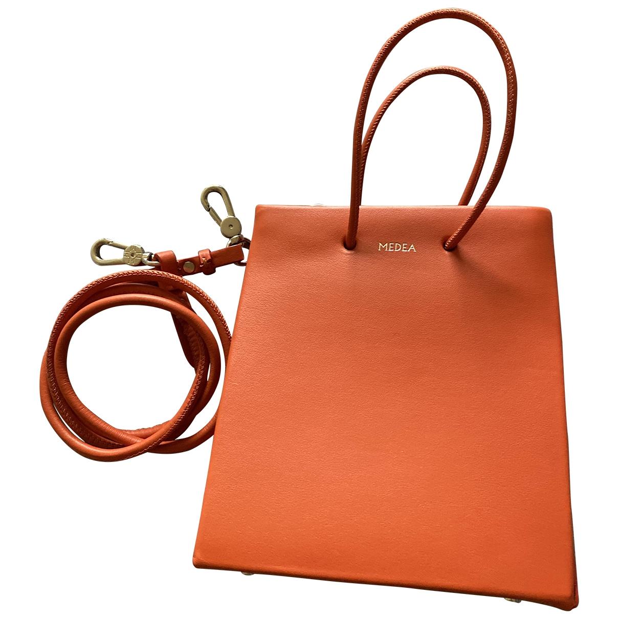 Medea \N Handtasche in  Orange Leder