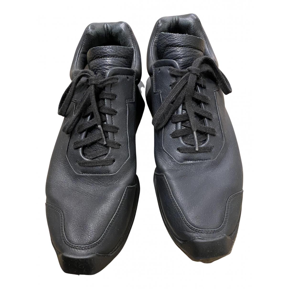 Adidas & Rick Owens \N Sneakers in  Schwarz Leder