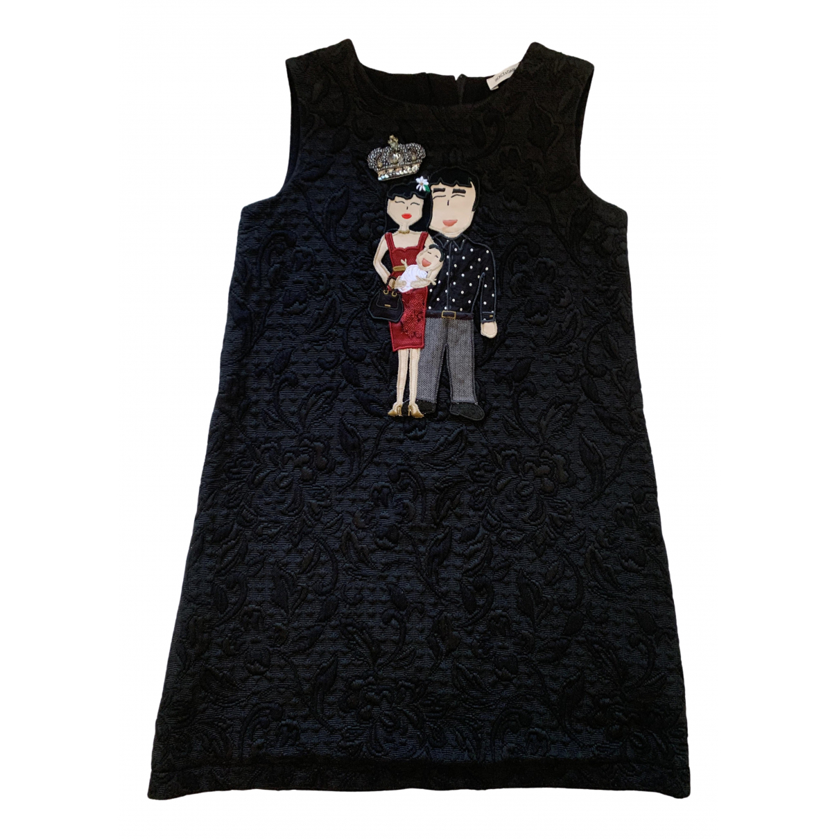 Dolce & Gabbana - Robe    pour enfant en coton - noir