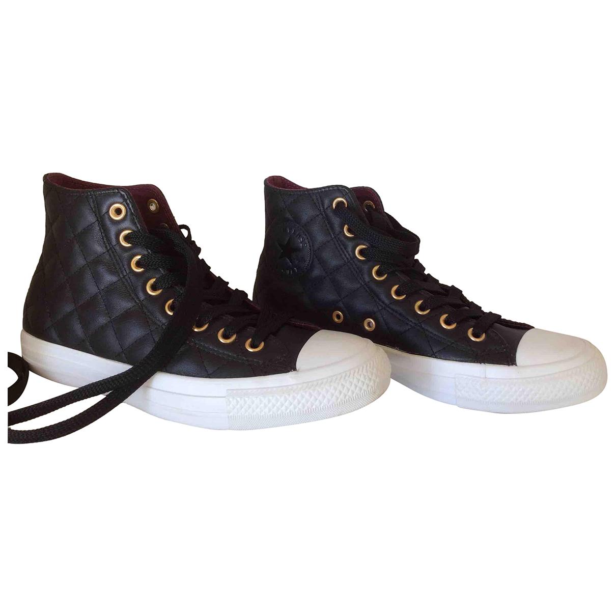 Converse - Baskets   pour femme en cuir - noir