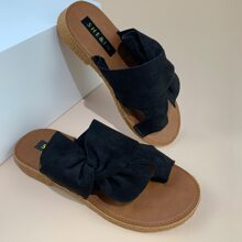 Toe Post Knot Decor Slide Sandals