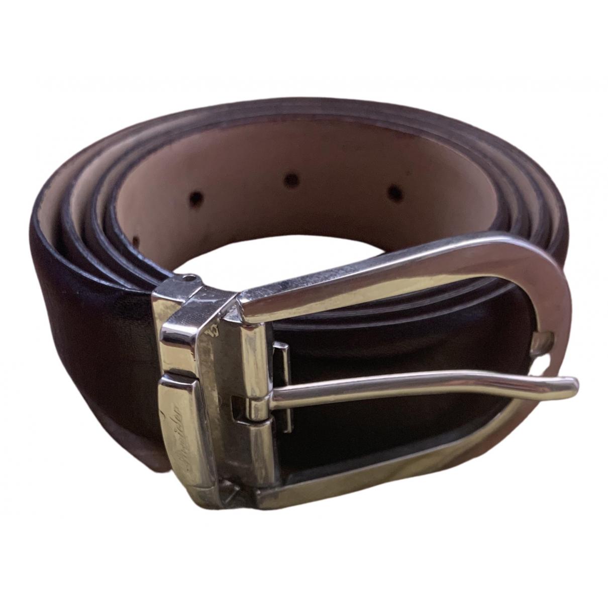 Pineider \N Brown Leather belt for Men 90 cm