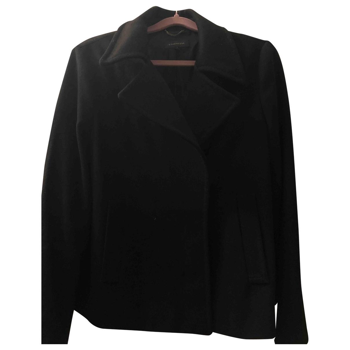 Strenesse - Manteau   pour femme en laine - noir