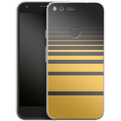 Google Pixel Silikon Handyhuelle - Yellow Retro von SONY