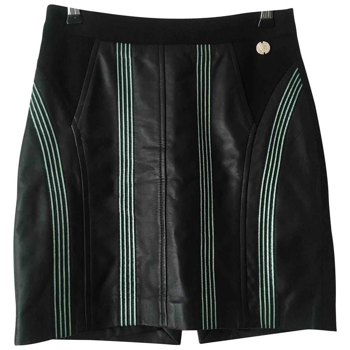 Versace Jeans \N Rocke in  Schwarz Leder