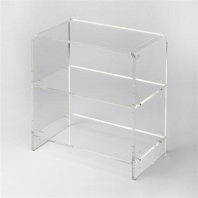 Crystal Collection 3611335 Bookcase with Modern Style  Rectangular Shape and Acrylic Material in Clear Acrylic