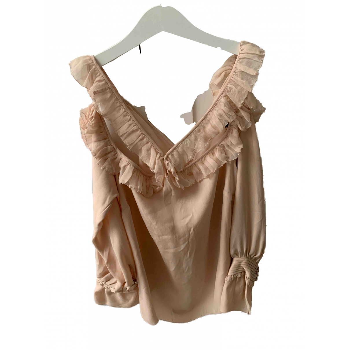Intermix \N Pink Silk  top for Women S International