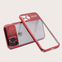 Contrast Frame Clear iPhone Case