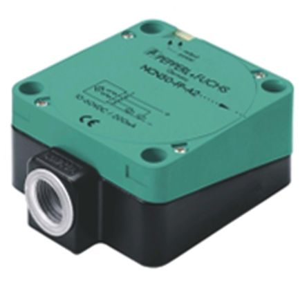 Pepperl + Fuchs Inductive Sensor - Block, NO/NC Output, 40 mm Detection, IP68, 1/2NPT Gland Terminal