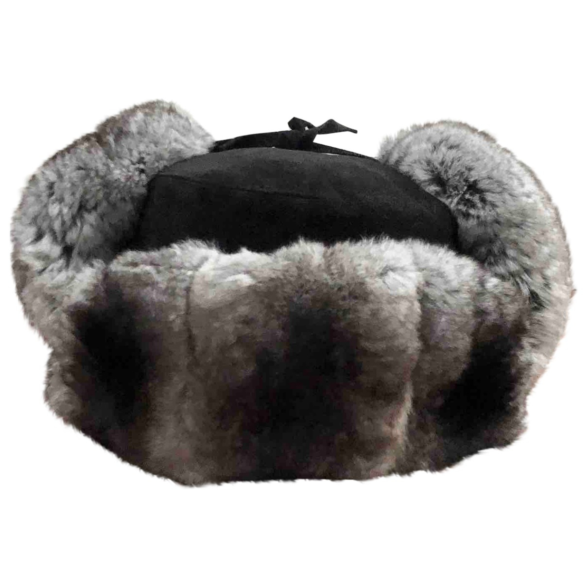 Non Signé / Unsigned \N Grey Chinchilla hat for Women M International