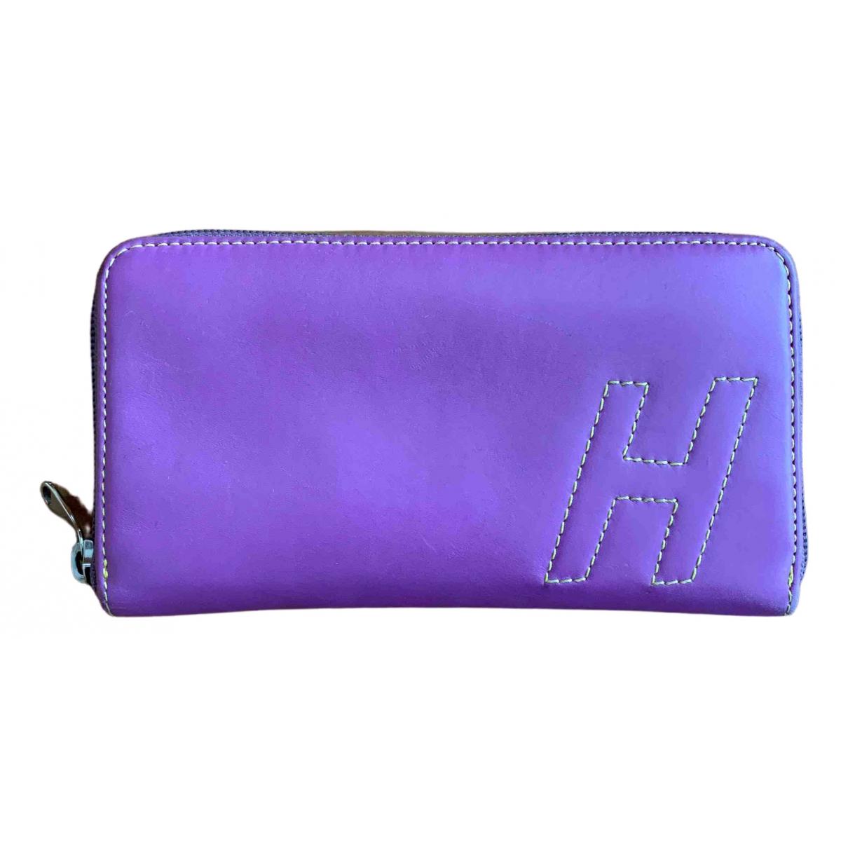 Hogan - Portefeuille   pour femme en cuir - violet