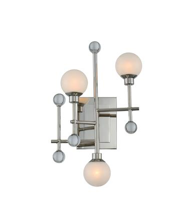 Mercer 508620PN 3-Light Wall Sconce in Polished