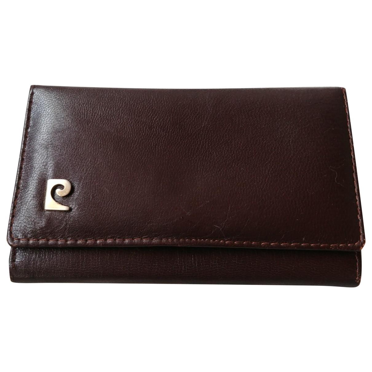 Pierre Cardin \N Brown Leather Purses, wallet & cases for Women \N