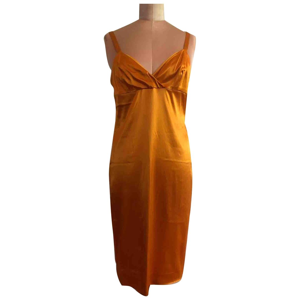 Chloe \N Kleid in  Orange Seide