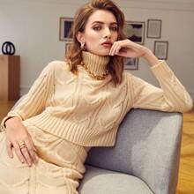 High Neck Crop Sweater