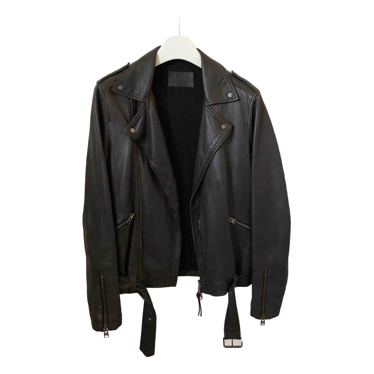 All Saints \N Brown Leather jacket  for Men XS International