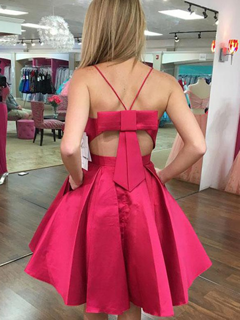 Ericdress Bowknot Pockets Short Cocktail Dress